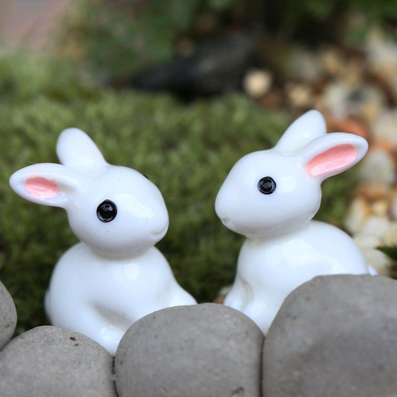 2# little finger Lovely Rabbit Miniature Landscape DIY Garden Decor Crafts Dollhouse Ornament
