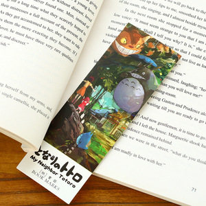 Image 4 - 6 pack/Lot Cartoon Totoro bookmark Anime paper page holder Memo card Stationery office School supplies separador de libros A6392