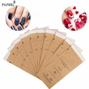 Image 1 - 10Pcs Disposable Sterilization Cosmetics Nail Tool Bag Gel Polish Remover Cleaning Cotton Pad Swab