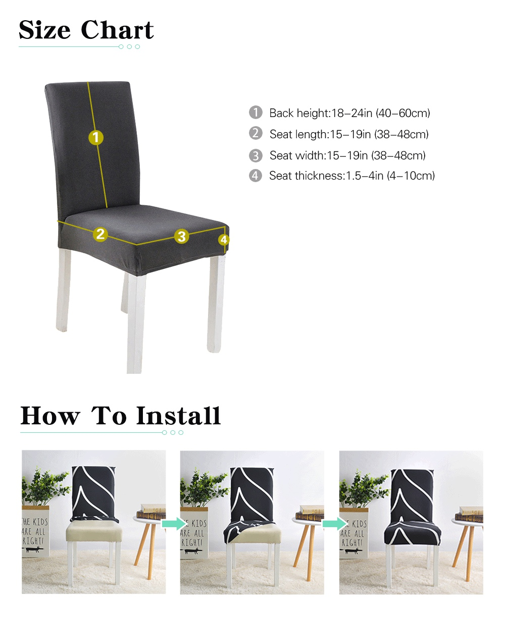 Chair Cover Spandex for Dining Room Stretch Chair Slip Cover for Restaurant Party Banquet housse de chaise New Arrival 1pc