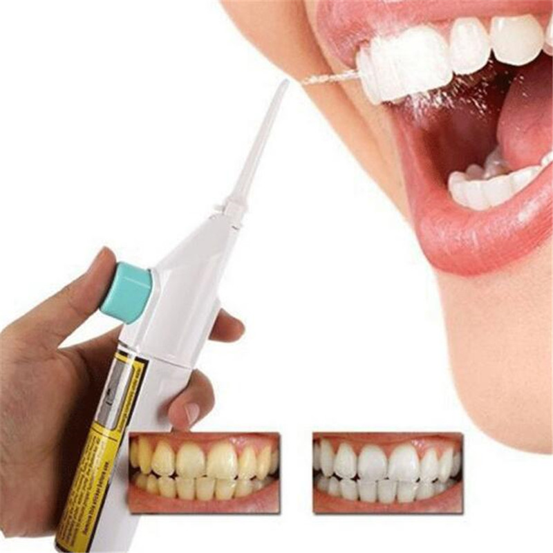 Portable Power Floss Dental Water Jet Cords Tooth Pick Braces No Batteries Practical Water Flosser Dental Irrigator