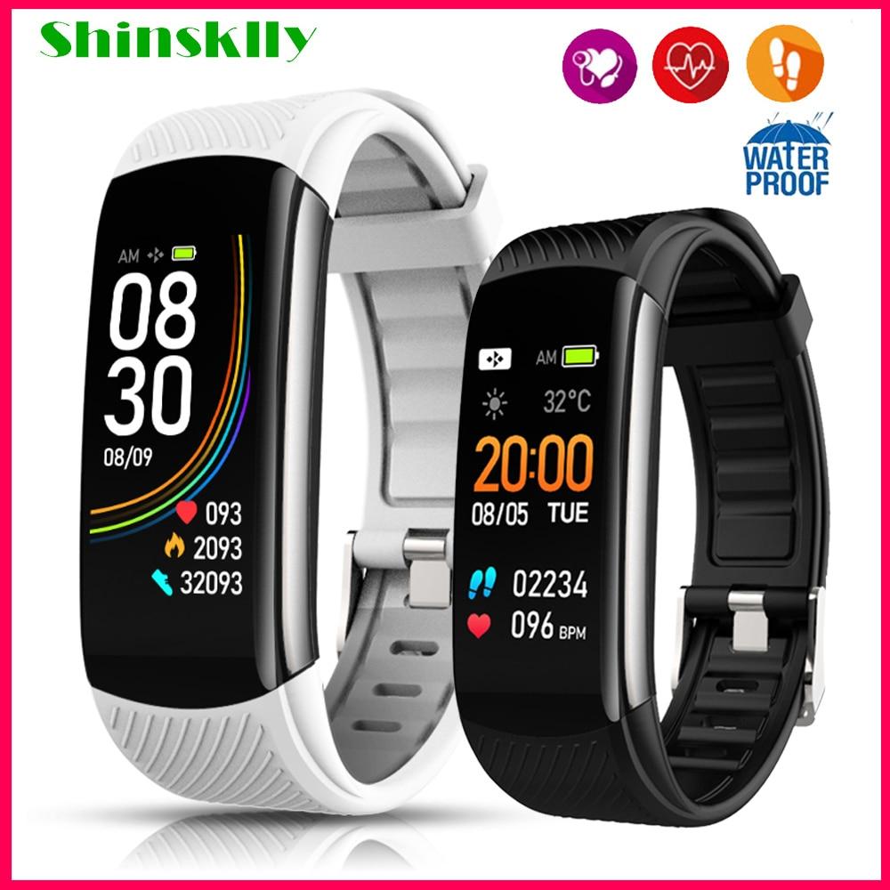 2020 Smart Bracelet Blood Pressure Waterproof Fitness Bracelet Watch Men Women Heart Rate Monitor Fitness Tracker Smart Band