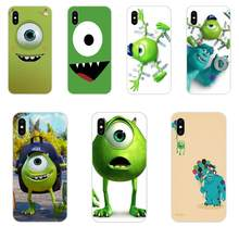 Mike Wazowski Style Soft Cell Phone Cases For Apple iPhone 4 4S 5 5C 5S SE 6 6S 7 8 Plus X XS Max XR(China)