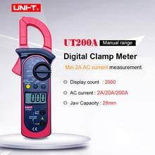 цена на UNI-T UT200A LCD Digital Clamp Multimeter Backlight Ohm DMM DC AC Voltmeter AC Ammeter