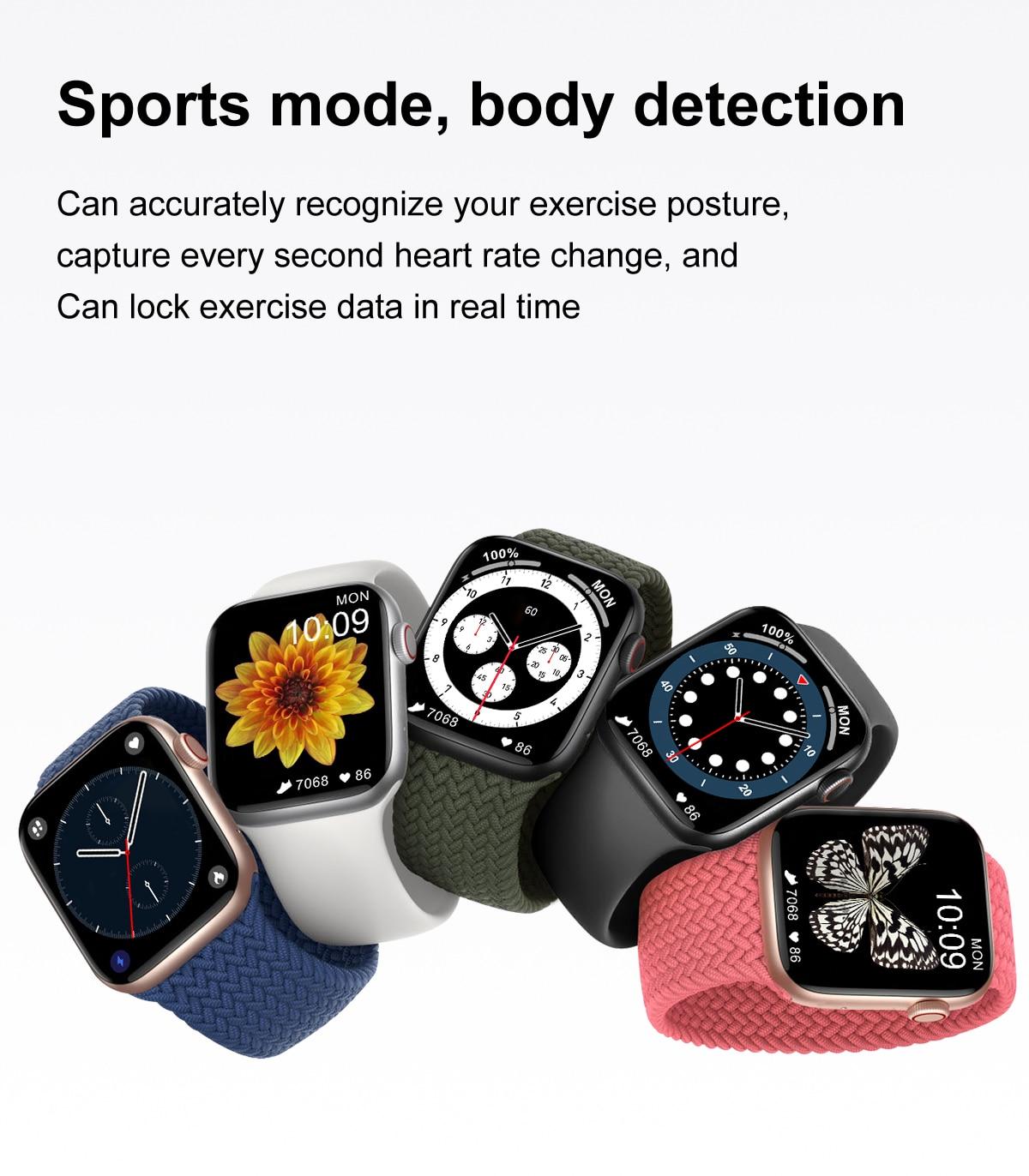 H73cbc0837c8043608df837ea86ea56bel DT100 pro Smart Watch Bluetooth Call Custom Dynamic Watch Face IP68 Waterproof Smartwatch Men Women for Apple Watch Iwo W26
