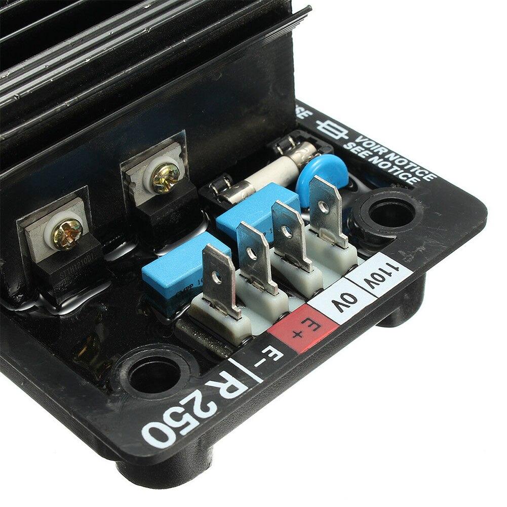 avr r250 modulo componentes regulador de tensao 01