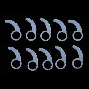 20 peças de silicone fone de ouvido ganchos de ouvido plugues para in-ear fone de ouvido 9mm-13mm in-ear fones de ouvido fixo caso de silicone