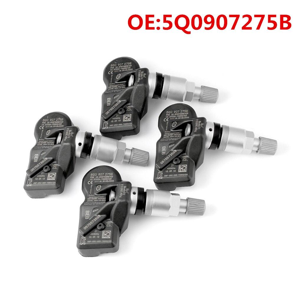 Sensor de pressão dos pneus 5q0907275b 5q0907275 sistema de monitoramento da pressão dos pneus para audi skoda a3 a7 a6 volkswagen vw porsche bentley