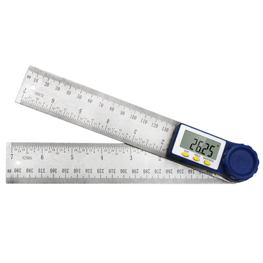 0-200mm Digital Display Angle Ruler Multi-function Square Ruler Protractor Ruler High-precision Measuring Instrument