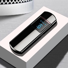 Customized Personality USB Cigarette Lighter Fingerprint Induction Electronic Lighter Rechargeable-in Cigarette Accessories from Home & Garden on AliExpress