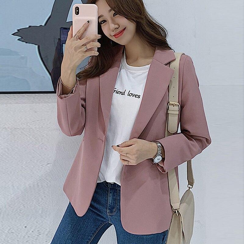 Elegant casual women's blazer jacket 2019 Korean version of the new autumn small suit coat Temperament jacket and suit Female