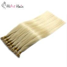 HiArt 1г/с нано кольцо человеческих волос расширений салон микро кольцо расширение блондинка дважды обращается европейский волосы прямые 18