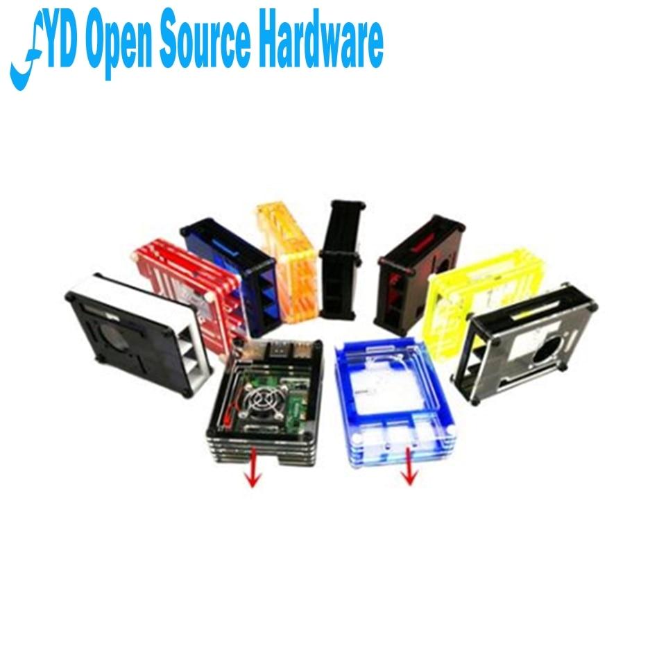 1pcs Raspberry Pi 4 B shell 9 layers red/blue/black/yellow/orange acrylic square