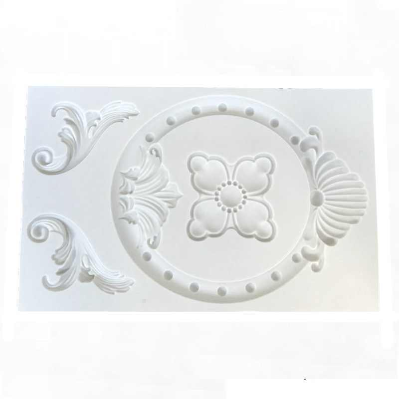 European-style Embossed Totem Silicone Mold Designer DIY Photo Frame Baroque Lace Cement Mold 3d Wall Panel Epoxy Resin Molds