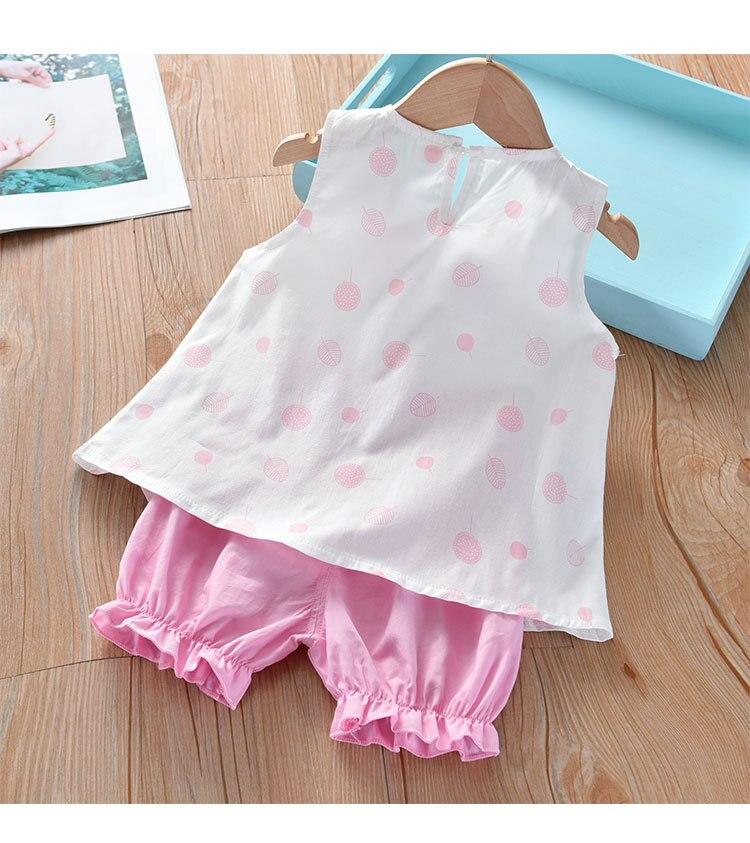 H73cc4fc69ae243b2abfa13478a6c30d2z Humor Bear Girls Clothing Set 2020 Korean Summer New Ice Cream Bow T-shirt+Pants Kids Suit Toddler Baby Children's Clothes