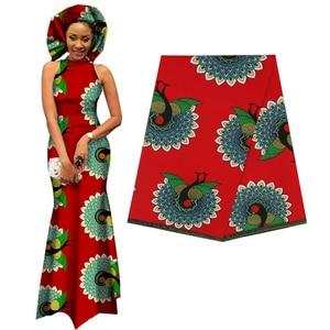 Image 3 - אלגנטי אפריקה אנקרה הדפסי בטיק בד מובטח אמיתי שעוות טלאים לנשים המפלגה שמלת מלאכות 100% כותנה באיכות הטובה ביותר