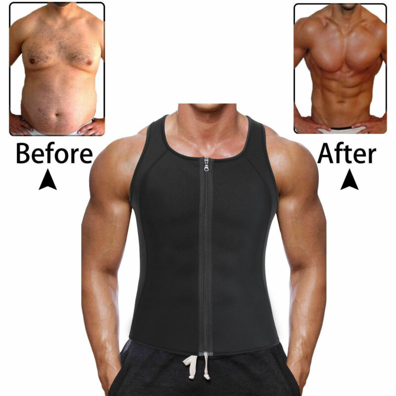 Fashion Hot Sale Slim Body Shaper Men Gym Neoprene Sauna Vest Sauna Sweat Shirt Body Shaper Slimming Tank Plus Size S-3XL