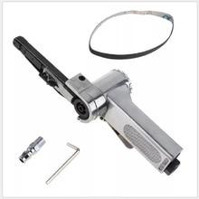 Air Belt Sander Air Angle Grinding Machine with Sanding Belts for Air Compressor Sanding Pneumatic Tool Set