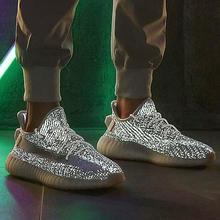 2021men's tênis de corrida casual respirável luminosa andando jogging sapatos de casal sapatos esportivos reflexão tamanho grande 36-45