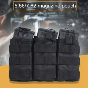 Good Quality 1000D Nylon Paintball Airsoft Pouch MOLLE Single / Double / Triple Magazine Pouch M4 AK AR M4 AR15 Rifle Mag Pouch(China)