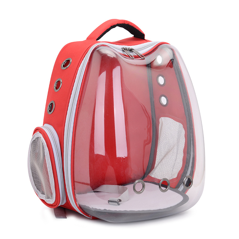 Cat Backpack With Window Space Capsule Cat Dog Backpack Carrier With USB Port Transparent Backpack Portable Travel Bag