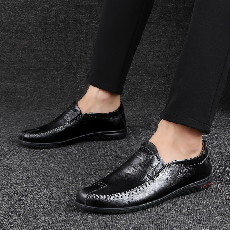 Comfortable Men Casual Shoes outdoor Loafers Men Shoes Genuine Leather Shoes breathable Men Flats Moccasins Shoes big size 47