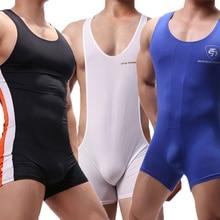 Sexy Men Undershirts Seamless Bodysuits Leotard Sports Fitness Underwear Wrestle Singlet Jumpsuits Sleepwear Sportwear One-piece
