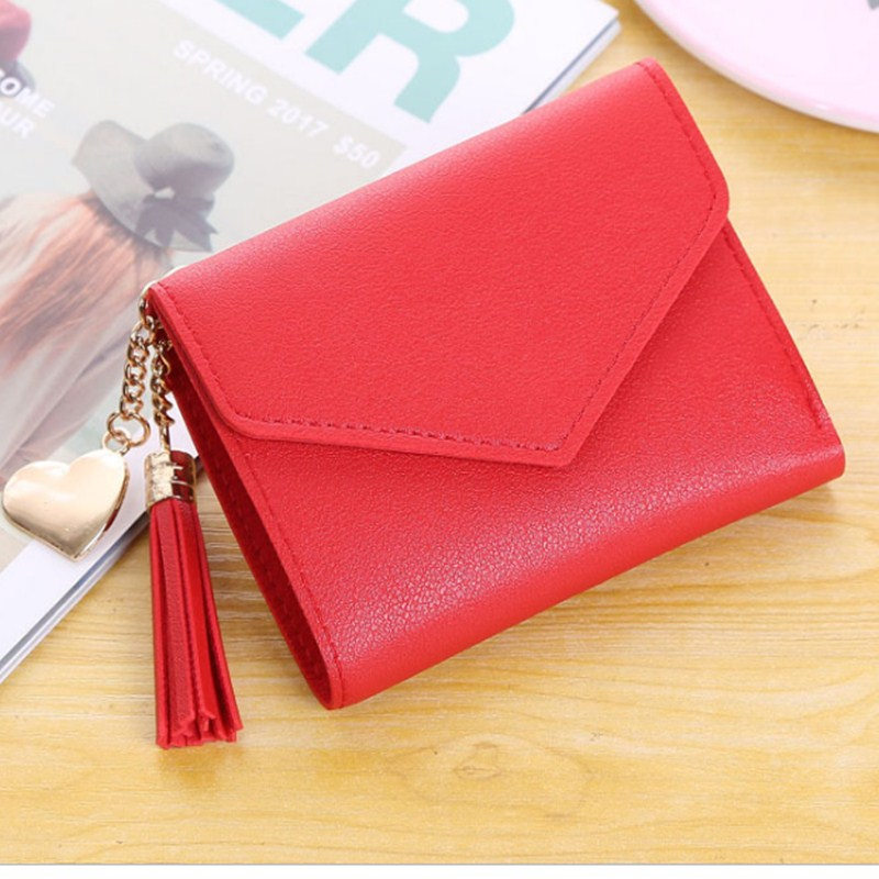 Women Short Wallets Purses Tassel Clutch Wallets For Girl Ladies Female  Money Coin Pocket Card Holder Student Wallets Bag New