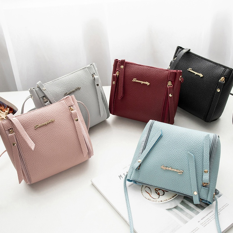 Women Bags Designer New Fashion Litchi PU Leather Handbags Casual Messenger Bag Large Capacity Shoulder Bag