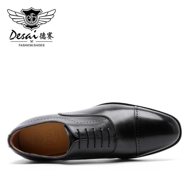 Desai Marke Echte Kuh Leder Männer Schuhe Oxfords Schuh Für Männlichen Deutschland Formale Luxus Echten Custom Hersteller