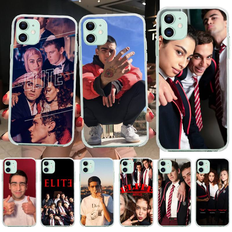 NBDRUICAI Spanish TV series Elite Phone Case Cover for iPhone 11 pro XS MAX 8 7 6 6S Plus X 5S SE XR cover image