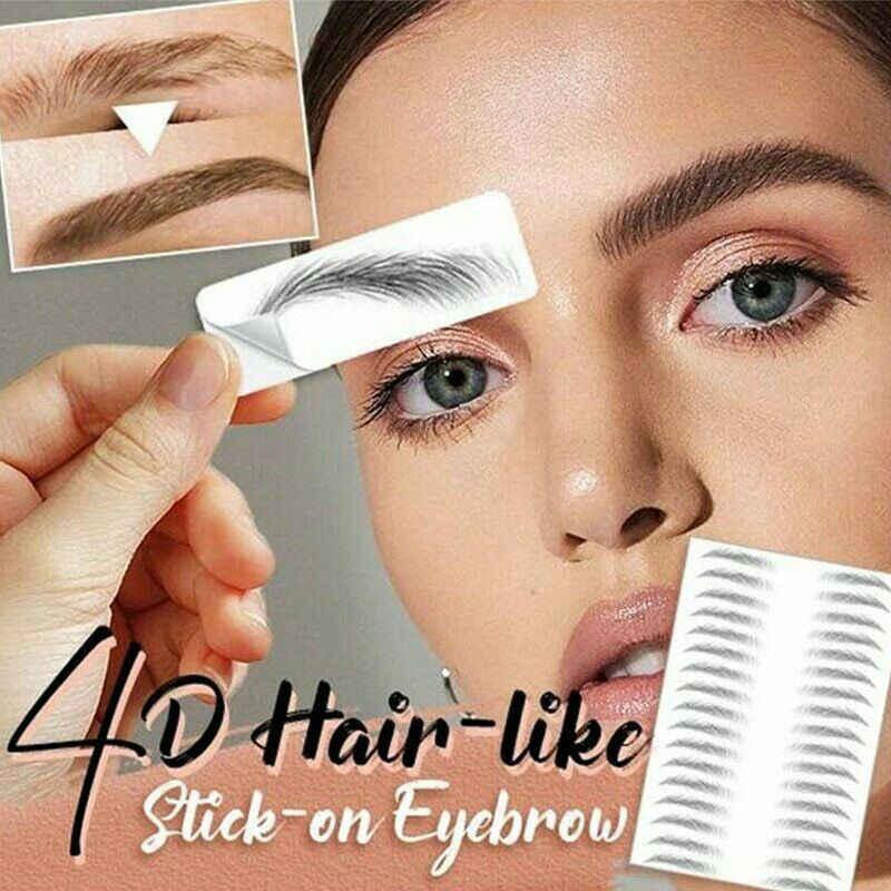 Su bazlı saç sevilen otantik kaş dövme etiket su geçirmez kozmetik uzun ömürlü makyaj yanlış kaşları çıkartmalar