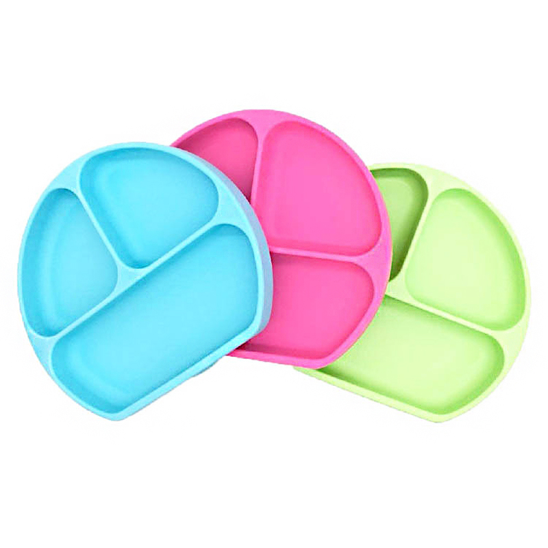 Manufacturer's Latest Silicone Sucker Bowl Baby Smile Face Plate Tableware Set Smile Face Baby Tableware Set Kids Plate