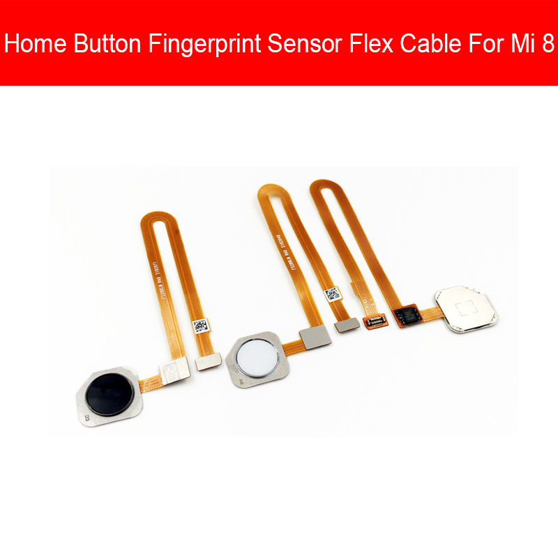 FingerPrint Sensor Home Button Flex Cable For Xiaomi Mi 8 Mi8 Menu Return Key Touch ID Sensor Flex Ribbon Replacement Parts