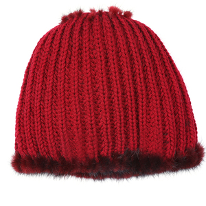 Image 3 - מכירה לוהטת אמיתי מינק פרווה כובע נשים החורף סרוגים מינק פרווה בימס כובע עם שועל פרווה פום Poms בעבודת יד חדש עבה נקבת כובע פרווה כובע