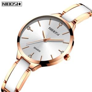 Image 2 - 2020 NIBOSI Uhr Luxus Frauen Uhr Damen Kreative frauen Keramik Armband Uhren Weiblichen Uhr Montre Femme Relogio Feminino