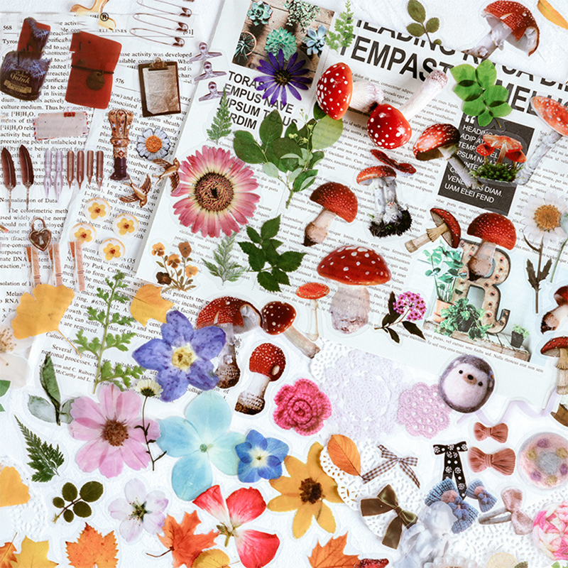 40PCS / Bag Jenny's Time Plant Series DIY Scrapbooking Phone Journal Week Album Diary Happy Planner Decoration Sticker