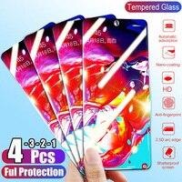 1/2/3/4 pces vidro temperado para samsung galaxy a51 a30s a71 a40 a20 a10 protetor de tela de vidro protetor de proteção para samsung a50 a70 m30s|Protetores de tela de telefone|Telefonia e Comunicação -