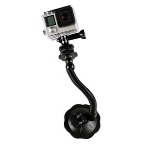 Image 3 - Ventouse en verre Action caméra Sport Cam trépied de montage pour voiture support de support de disque support pour Gopro Hero 7 6 5 Yi2 accessoires