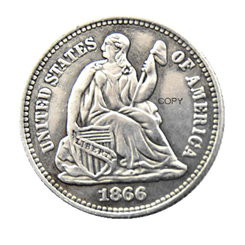 USA 1866P/S(Mintmark Below) Liberty Seated Half Dime Legend Obverse Copy Coins