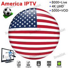 IPTV USA IPTV Subscription Canada Germany UK India Italy USA For Xtream M3u smart TV Box Android 9.0 SSIPTV with 8000 channels lastest box android iptv box rk3328 quad core with 1 year iptv europe usa uk italy iptv channels hd wifi smart tv media player