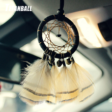 Indian Style Handmade Dream Catcher Feather Car Pendant Charms Auto Rearview Mirror Hanging Ornaments Dreamcatcher Home Decor