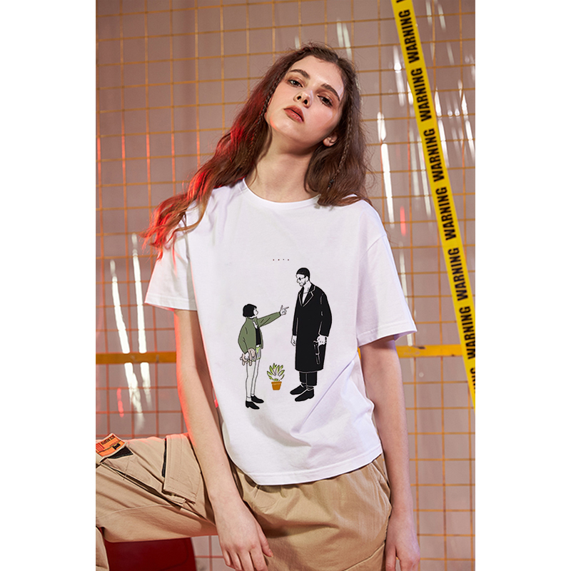 Showtly  Women T Shirt The Killer Is Not Too Cold  Leon The Professional Italian Poster Casual Fashion T-shirt