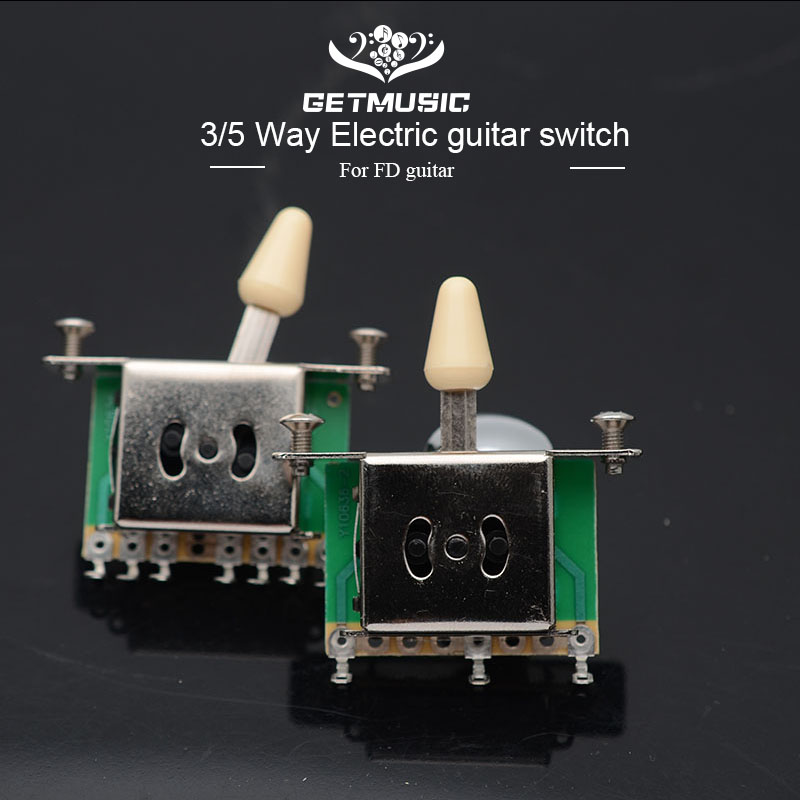 3/5 Way Guitar Pickup Selector Switch With Black Tip Cap For FD TL Style Electric Guitar Guitarra Part Accessories