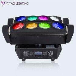8X12W RGBW 4w1 LED pająk etap reflektor z ruchomą głowicą DMX Bar KTV DJ oświetlenie dyskotekowe