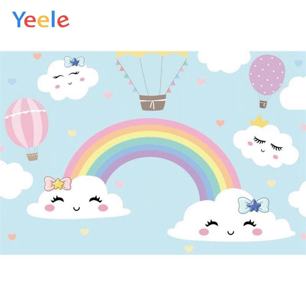 Yeele Rainbow Nuvem Dos Desenhos Animados Balão da Festa de Aniversário Do  Bebê Recém nascido Costume Fotografia Fundo de Vinil Para Estúdio de  Fotografia|Fundo| - AliExpress