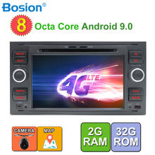 2 din android 9.0 Octa Cores car dvd gps for ford for focus 2/mondeo/s max/c-max/fusion/fiesta/transit radio head unit canbus(China)