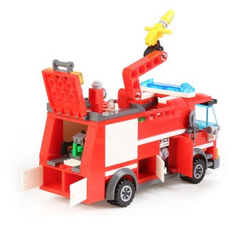 City Fire Fight Truck Car Model Building Blocks Sets Firefighter DIY Creator Bricks Educational Toys for Children 788pcs city fire command center engine ladder truck building blocks sets creator bricks playmobil educational toys for children