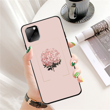 цена на for Iphone 11 Pro Max XR Ip7 8Plus 6s Case Korea Style Flowers illustration Tpu Silicon Black Case Full Protective Back Cover