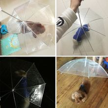 Pet-Umbrella Cat Transparent Small Outdoor Portable Dog with Chain Keep-Dry Rain Gear-Tool